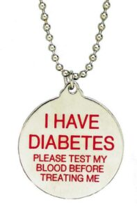Medical alert necklace - freebie for diabetics