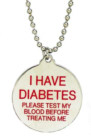 Diabetic Freebie - Alert Necklace