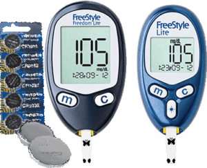 Diabetic Freebie - FreeStyle Meter and Batteries