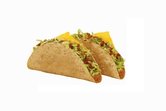 Two hard shell tacos. Get this free food on your birthday from Jack in the Box!