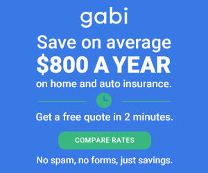 Gabi banner - Let Gabi help you find the cheapest auto insurance. No spam or forms, just savings!