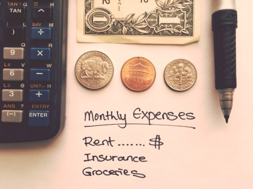 Monthly household budget plan.