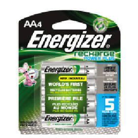AA Energizer rechargeable batteries.